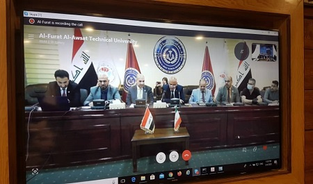 Video-conference of ISC and RICeST with Al-Furat Al-Awsat Technical University